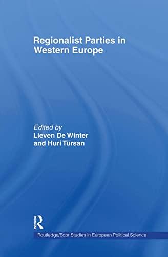 9780415164375: Regionalist Parties in Western Europe (Routledge/ECPR Studies in European Political Science)