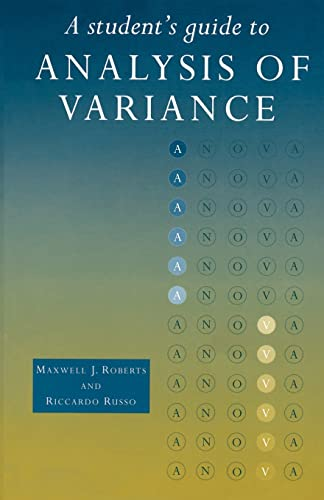 9780415165655: A Student's Guide to Analysis of Variance