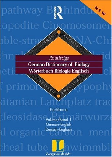 9780415171298: German Dictionary of Biology Vol 1: Worterbuch Biologie (German-English) (Routledge Bilingual Specialist Dictionaries)