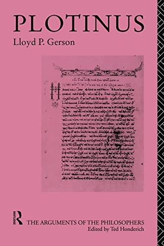 9780415174091: Plotinus-Arg Philosophers (Arguments of the Philosophers)