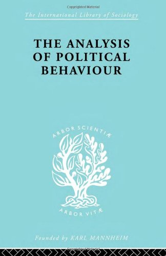 9780415175371: The Analysis of Political Behaviour (International Library of Sociology)