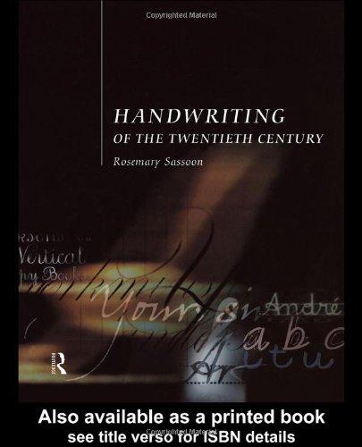 Handwriting of the Twentieth Century: Sassoon, Rosemary