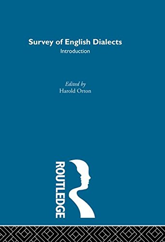 Survey Eng Dialects-Introdctn: BARRY, MICHAEL V.