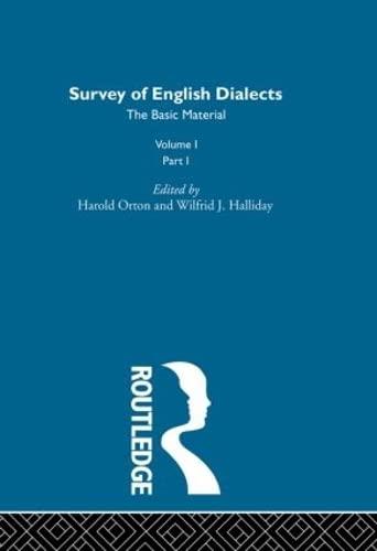 Survey Eng Dialects Vol1 Prt1: BARRY, MICHAEL V.