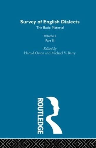 Survey Eng Dialects Vol2 Prt3: BARRY, MICHAEL V.