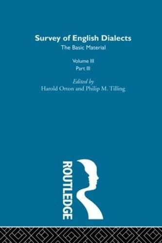 Survey Eng Dialects Vol3 Prt3: BARRY, MICHAEL V.