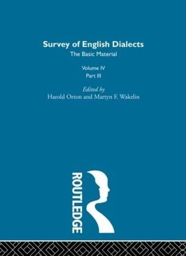 Survey Eng Dialects Vol4 Prt3: Michael V. Barry