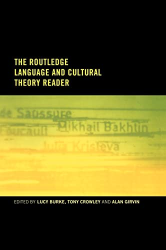 9780415186803: The Routledge Language and Cultural Theory Reader (Routledge Politics of Language Series)