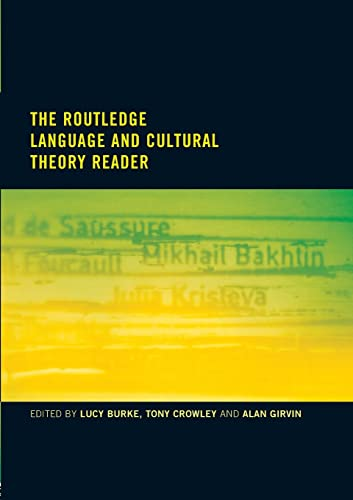 9780415186810: The Routledge Language and Cultural Theory Reader