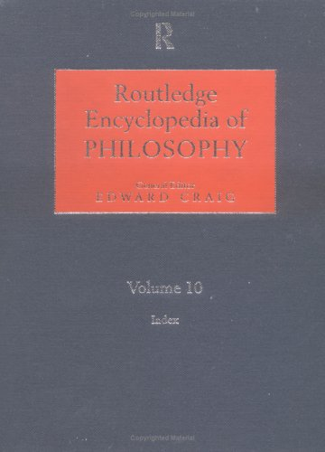9780415187152: Routledge Encyclopedia of Philosophy, Vol. 10: Index