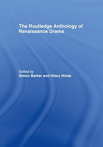 9780415187336: The Routledge Anthology of Renaissance Drama