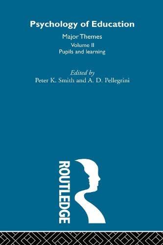 9780415193047: Psychology of Education: Major Themes