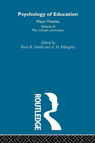9780415193054: Psychology of Education V3