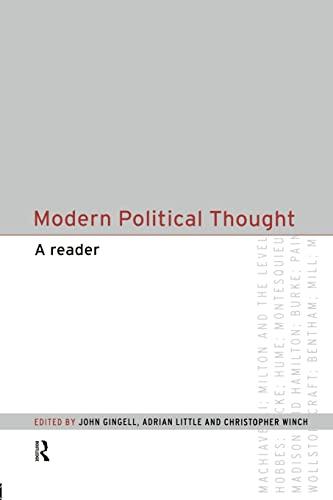 9780415194624: Modern Political Thought: A Reader