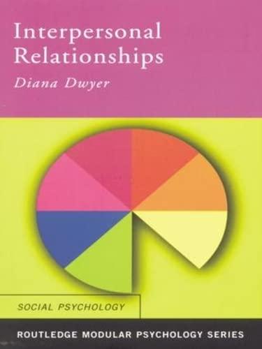 9780415196246: Interpersonal Relationships (Routledge Modular Psychology) (Volume 14)