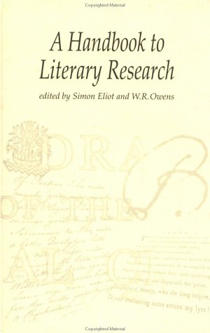9780415198592: The Handbook to Literary Research