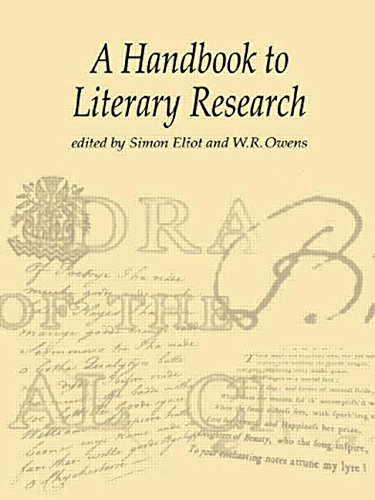 9780415198608: The Handbook to Literary Research
