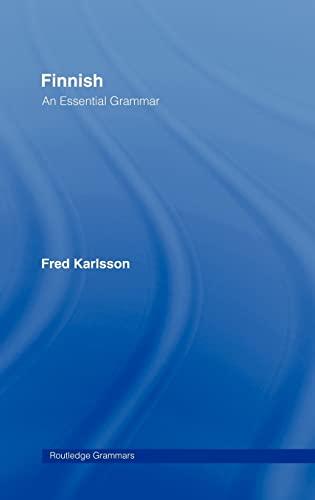 9780415207041: Finnish: An Essential Grammar