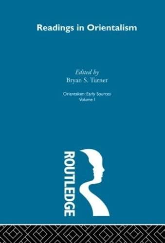 9780415208994: Readings Orient:Orientalsm V 1 (Orientalism) (Volume 9)