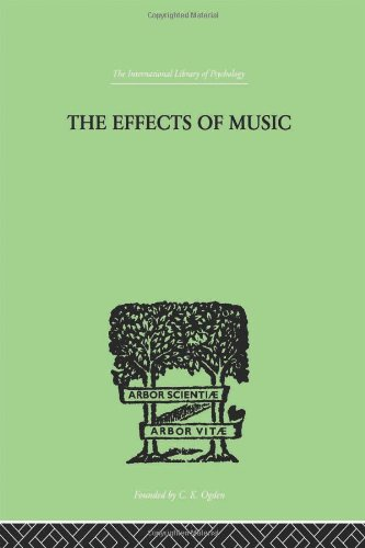 9780415209731: The Effects of Music: A series of Essays (International Library of Psychology) (Volume 41)