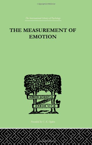 9780415210492: The Measurement of Emotion (International Library of Psychology) (Volume 86)
