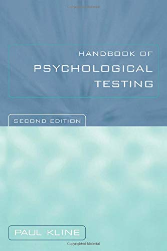 9780415211574: Handbook of Psychological Testing
