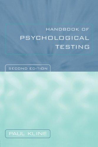 9780415211581: Handbook of Psychological Testing