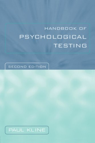 9780415211581: Handbook of Psychological Testing