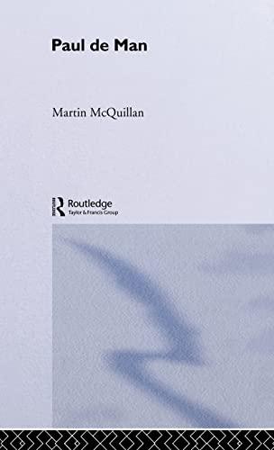 9780415215121: Paul de Man (Routledge Critical Thinkers)