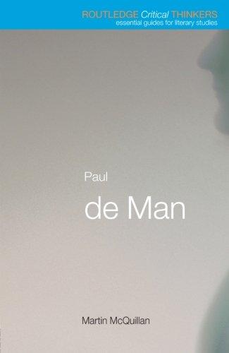 9780415215138: Paul de Man (Routledge Critical Thinkers)