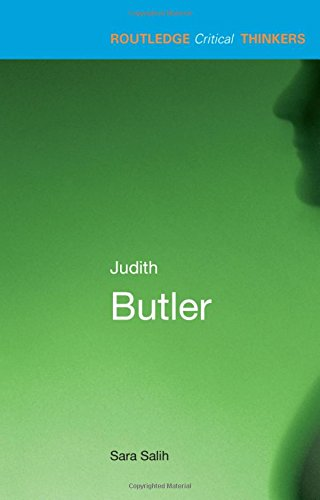 9780415215183: Judith Butler (Routledge Critical Thinkers)