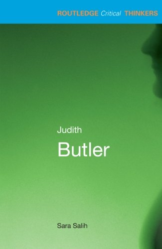 9780415215190: Judith Butler (Routledge Critical Thinkers)