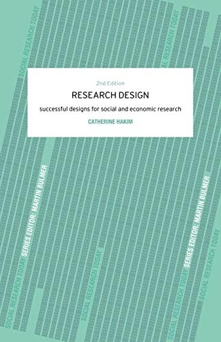 9780415223133: Research Design: Succesful Designs for Social Economics Research