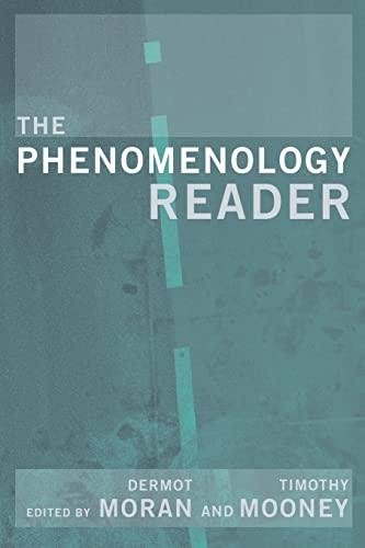 The Phenomenology Reader: Dermot Moran