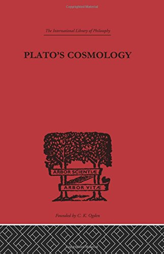 Plato's Cosmology: The Timaeus of Plato (International Library of Philosophy) (Volume 38) (0415225183) by Francis MacDonald Cornford