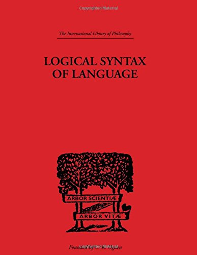 9780415225533: International Library of Philosophy: Logical Syntax of Language