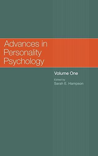 Advances in Personality Psychology: Volume 1: Hampson, Sarah E (ed.)