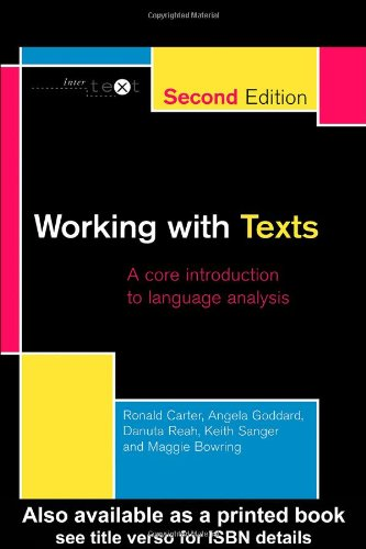 9780415234658: Working with Texts: A Core Introduction to Language Analysis: A Core Book for Language Analysis (Intertext)