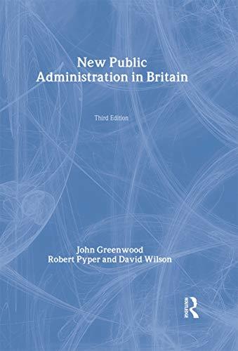 9780415236799: New Public Administration in Britain