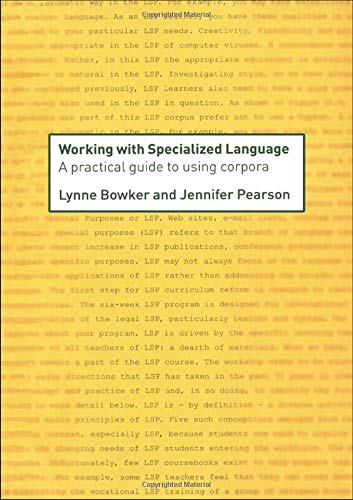9780415236980: Working with Specialized Language: A Practical Guide to Using Corpora