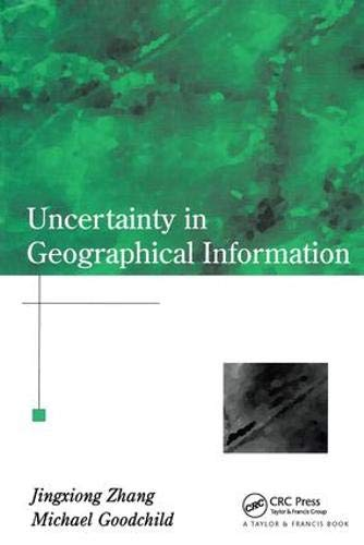 9780415243346: Uncertainty in Geographical Information (Research Monographs in Geographic Information Systems,)