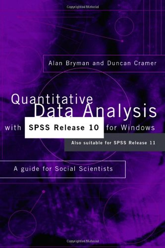 9780415243995: Quantitative Data Analysis with SPSS Release 10 for Windows: A Guide for Social Scientists