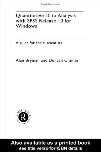 9780415244008: Quantitative Data Analysis with SPSS Release 10 for Windows: A Guide for Social Scientists