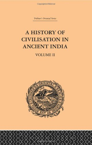 9780415244923: A History of Civilisation in Ancient India: Based on Sanscrit Literature: Volume II (Trubner's Oriental Series) (Volume 36)