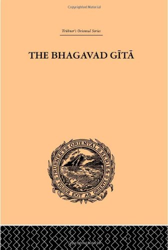 9780415245203: Hindu Philosophy: Bhagavad Gita or, The Sacred Lay (Trubner's Oriental Series) (Volume 10)