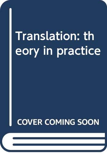 9780415247054: Translation: theory in practice