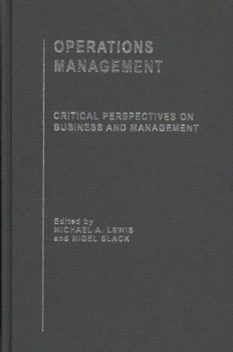 9780415249249: Operations Management (Critical Perspectives on Business and Management) (4 Volume Set)