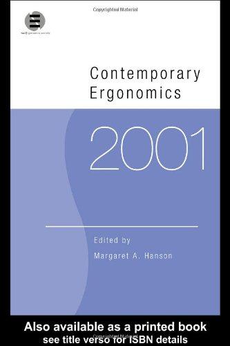 9780415250733: Contemporary Ergonomics 2001