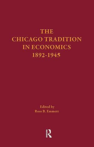 9780415254236: Chicago Trad Econ 1892-1945 V1