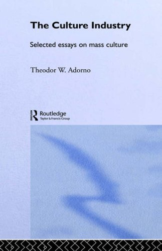 culture industry thesis adorno 04062006  read the full-text online edition of the culture industry: selected essays on mass  the products of the culture industry, adorno's critical theory.